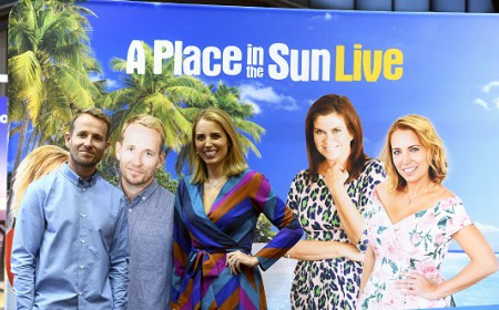 TV presenters for a place in the sun