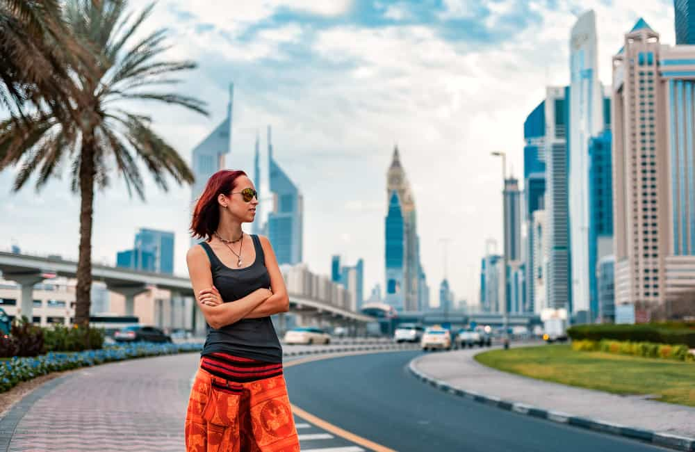 woman downtown UAE