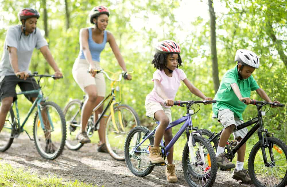 Canada family cycle ride