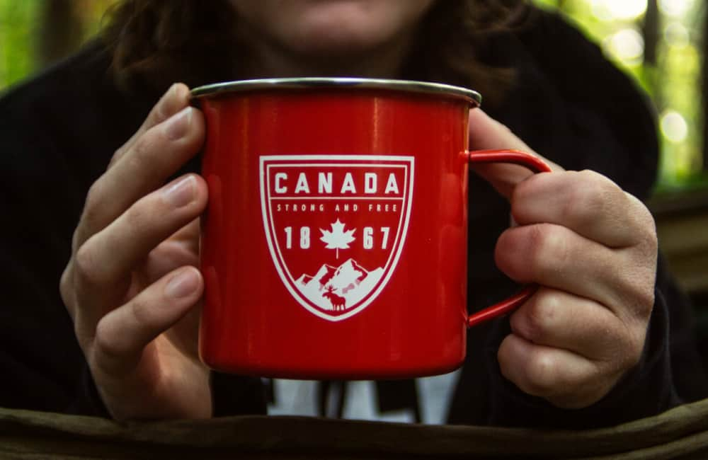 Canada strong and free mug