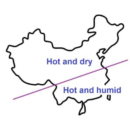 China climate map