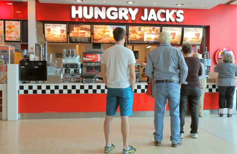 Hungry Jacks Australia slang