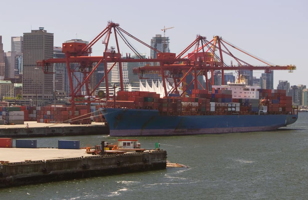 container shipping moving to Vancouver
