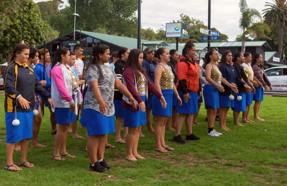 Maori school children New Zealand