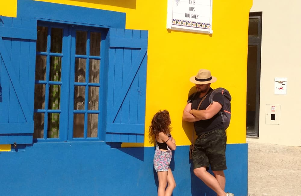 father and daughter in Portugal