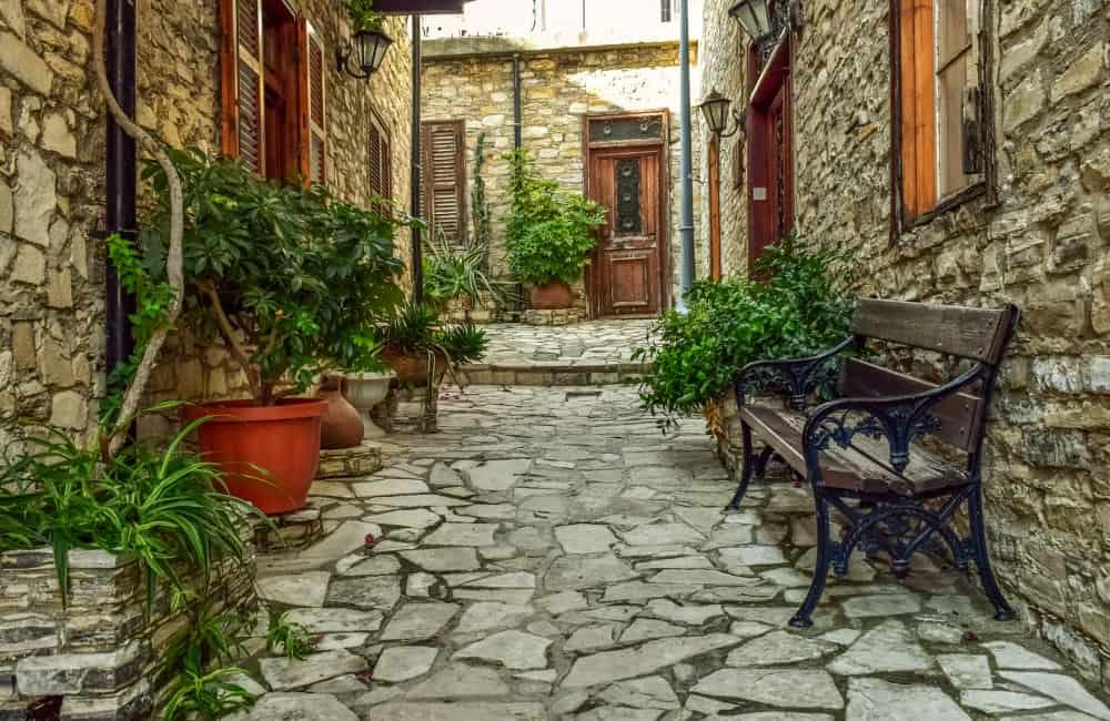 Pano Lefkara backstreet Cyprus