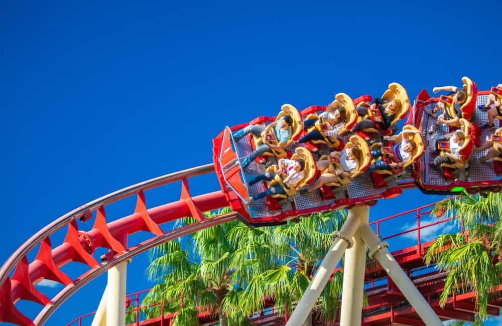 Universal Studios roller coaster