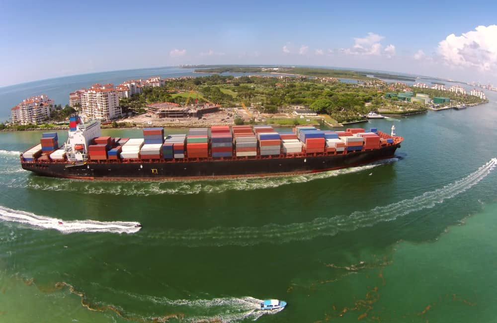 container ship port of Miami