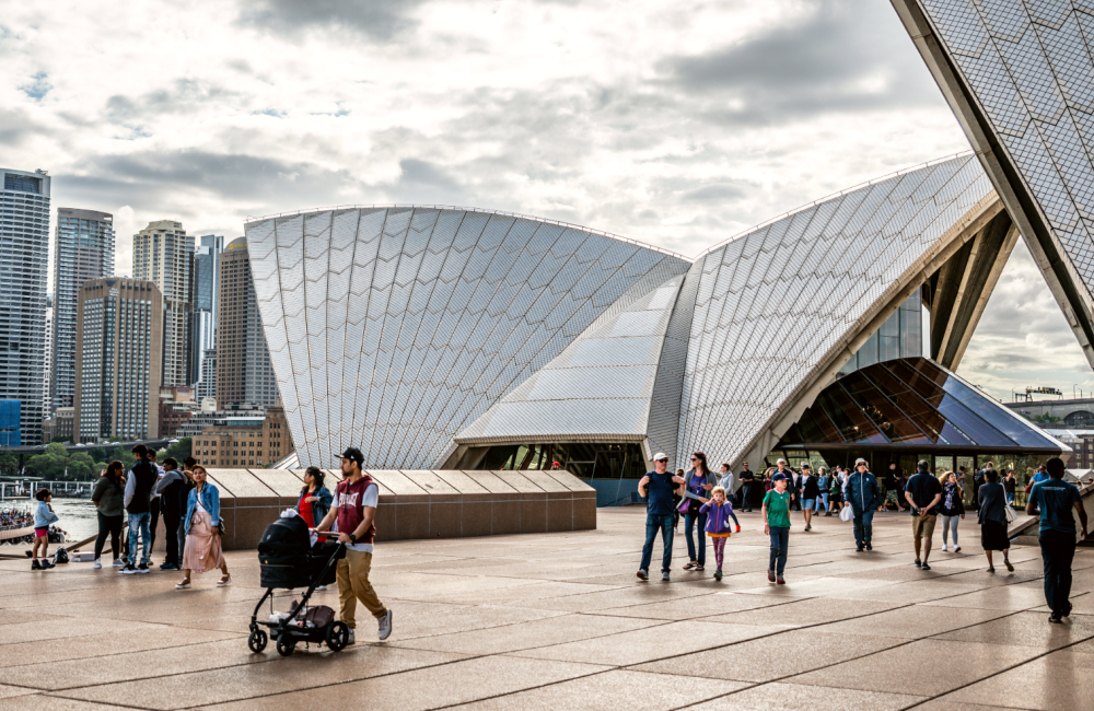 families at Sydney Opera House