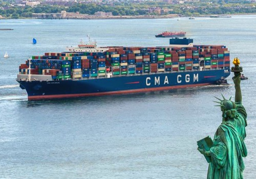 CMA-CGM containership in New York