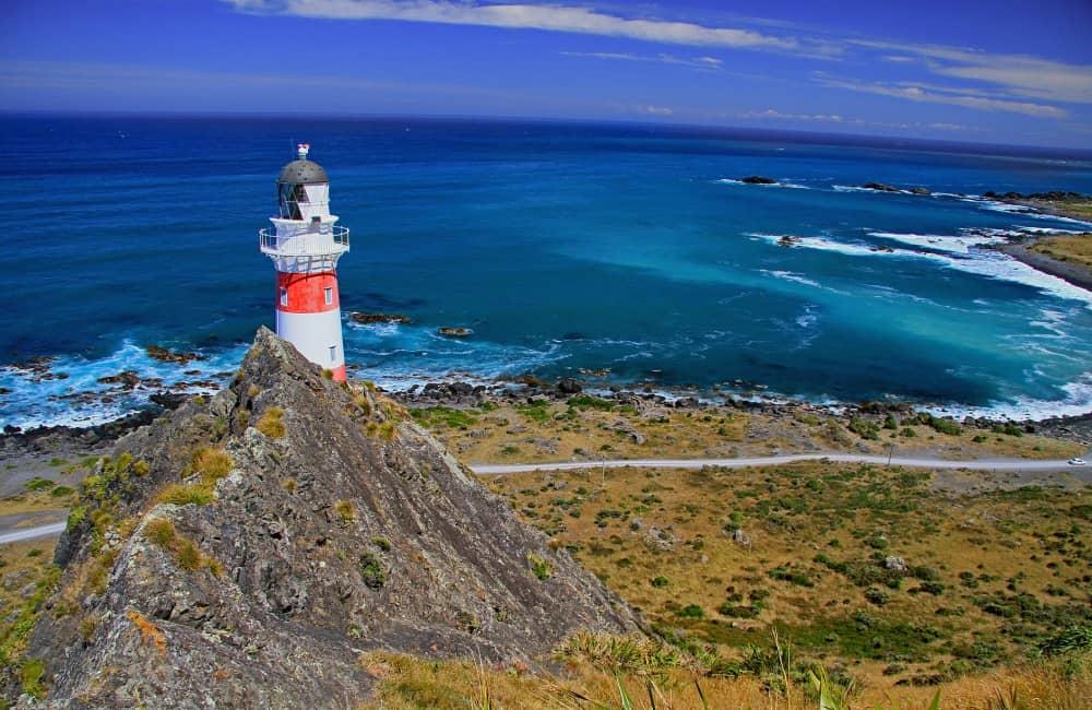 Cape Palliser lighthouse near Ngawi