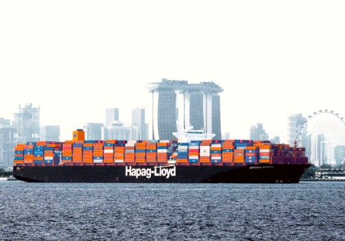 Hapag Lloyd container ship in Singapore