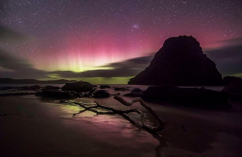 Lion Rock and Aurora Australis
